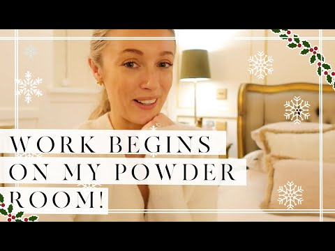 WORK BEGINS ON MY DREAM POWDER ROOM // VLOGMAS Day 4 // Fashion Mumblr