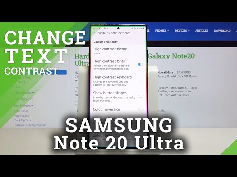 How to Set High Contrast Text in SAMSUNG Galaxy Note 20 Ultra – Make Text Visible