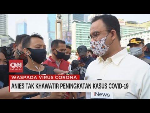 Anies Tak Khawatir Peningkatan Kasus Covid-19