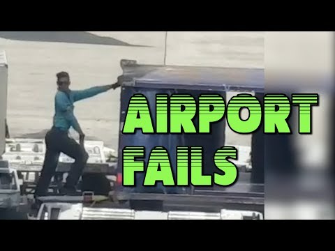 Airport Fails Compilation || Funny Videos