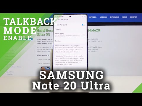 How to Enable Talkback in SAMSUNG Galaxy Note 20 Ultra – Turn On / Off Screen Reader