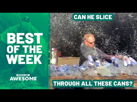 Can He Slice Through All These Cans? | Best of The Week