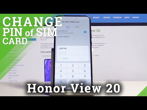 How to Change PIN to SIM Card on Honor View 20 - Safety PIN