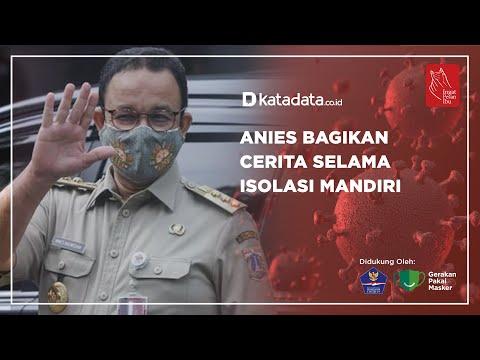 Anies Bagikan Cerita Selama Isolasi Mandiri   Katadata Indonesia