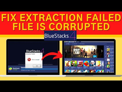 """How to Fix BlueStacks Error """"Extraction Failed File is Corrupted"""" Problem"""