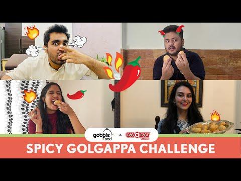 Gobble | The Ultimate Spicy Golgappa Challenge | गोलगप्पा चैलेंज | Ft. Viraj Ghelani, Amulya Prabhu
