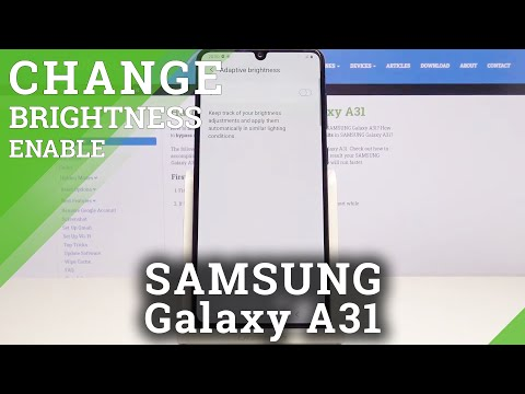 How to Set Up Automatic Screen Brightening in Samsung Galaxy A31 – Manage Brightness Feature
