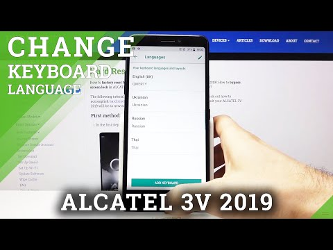 How to Change Keyboard Language in ALCATEL 3V 2019 – Find Keyboard Dictionary