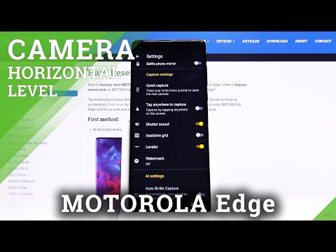 How to Turn On / Off Camera Leveler in Motorola Edge