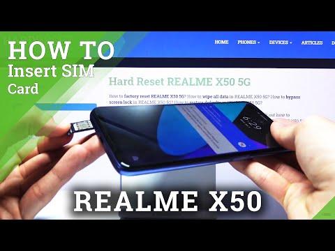 How to Insert Nano SIM in REALME X50 – SIM Slot