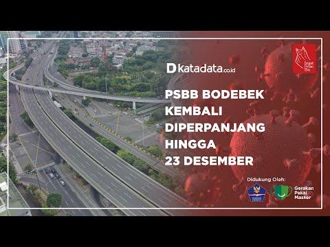 PSBB Bodebek Kembali Diperpanjang Hingga 23 Desember | Katadata Indonesia
