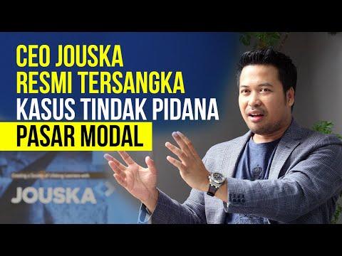 CEO Jouska Resmi Tersangka Kasus Tindak Pidana Pasar Modal