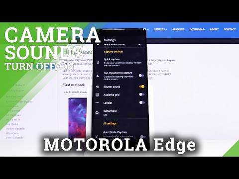 How to Mute Shutter Sound in Motorola Edge – Disable Camera Shutter Sound