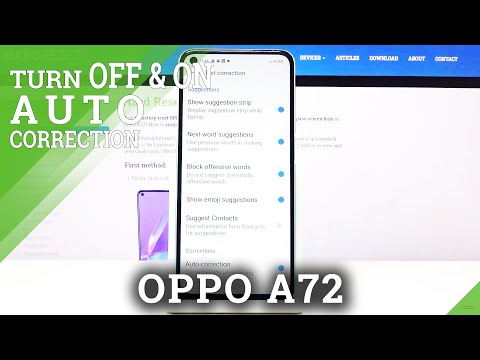 How to Enable Auto Correction in OPPO A72 - Correct Words While Typing