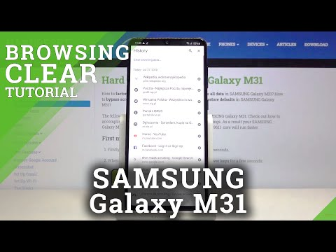 How to Clear Browsing Data in SAMSUNG Galaxy M31 – Delete Browsing History