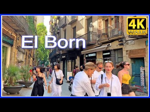【4K】WALK BARCELONA Catalonia Spain 4K video HDR TRAVEL vlog