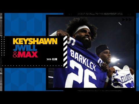 Ezekiel Elliott or Saquon Barkley: Which RB are you buying future stock on? | Keyshawn, JWill & Max