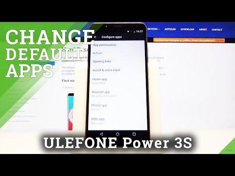 How to Set Up Default Applications in Ulefone Power 3s - Change Default App Settings