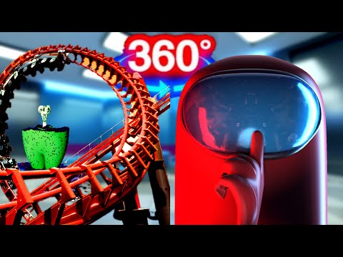 360 Video | Among Us 3D VR Ride - Who is the Imposter? Part 1