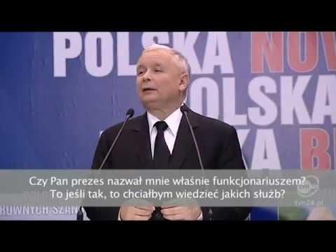 """Jarosław Kaczyński nazywa dziennikarza Jakuba Sobieniowskiego """"funkcjonariuszem"""""""