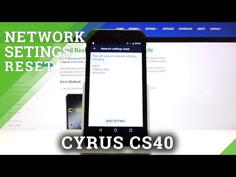 How to Reset Network Settings in CYRUS CS40 - Restore Network Configuration