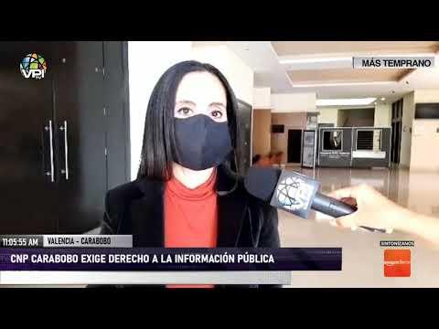 CNP Carabobo exige derecho a la información pública - VPItv