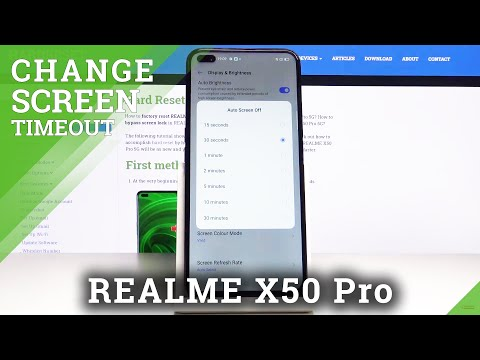 How to Set Up Screen Timeout in REALME X50 PRO 5G - Sleep Time