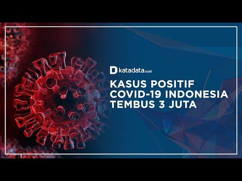 Kasus Positif COVID-19 Indonesia Tembus 3 Juta, Kematian Rekor Tertinggi   Katadata Indonesia