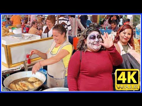 【4K】WALK MEXICO City Street Food Market 4K video CDMX travel
