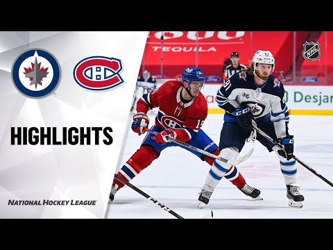 Jets @ Canadiens 4/8/21   NHL Highlights