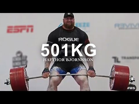 Hafthor Bjornsson Most Inspiring Video - 501kg Deadlift