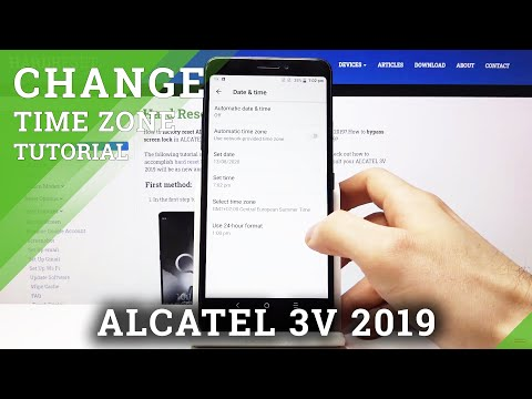 How to Set Date & Time in ALCATEL 3V 2019 – Change Time Zone & Clock Format