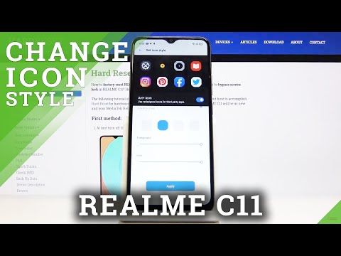 How to Change Icon Style in REALME C11 - Set Up Icon Look