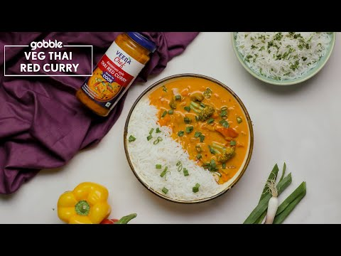 Gobble | Veg Thai Red Curry | Red Thai Curry Recipe