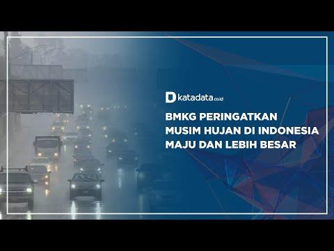 BMKG Peringatkan Musim Hujan di Indonesia Maju dan Lebih Besar | Katadata Indonesia