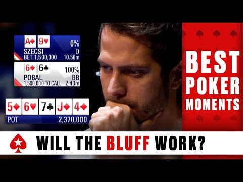 Will the POKER BLUFF work? YOU decide ♠️ Best Poker Moments ♠️  PokerStars Global