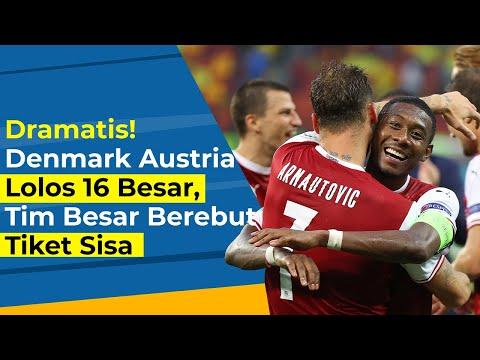 EURO 2020: Dramatis! Denmark Austria Lolos 16 Besar, Siapa Lagi Yang Berebut Tiket Sisa?