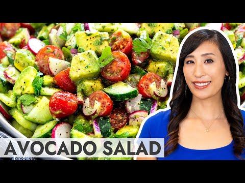Tomato Avocado Salad with Cilantro Lime Dressing