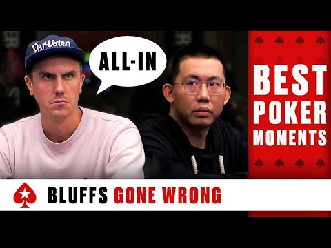 FAILED BLUFFS: how to induce a BLUFF ♠️ Best Poker Moments ♠️ PokerStars Global