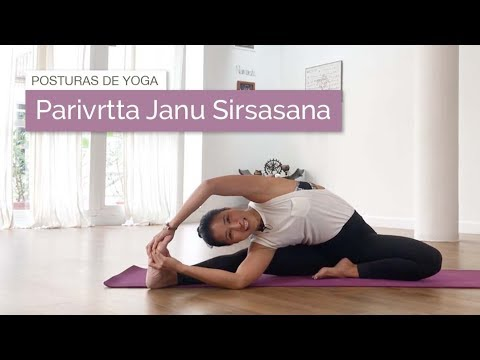 Parivrtta Janu Sirsasana (Estiramiento lateral sentado)