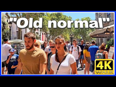 【4K】WALK BARCELONA Spain walking LA RAMBLA [Barna] TRAVEL VLOG