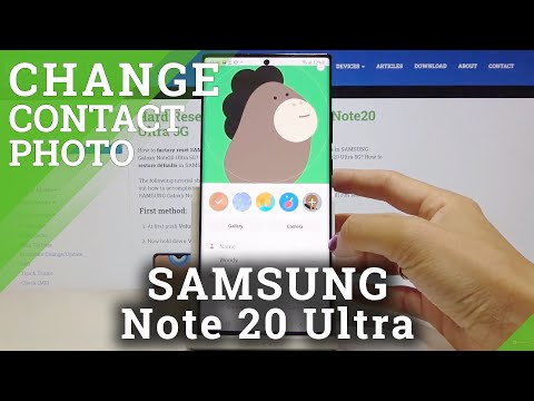 How to Add Photo to Contact in SAMSUNG Galaxy Note 20 Ultra – Customize Contact List