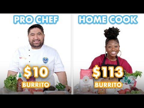 $113 vs $10 Burrito: Pro Chef & Home Cook Swap Ingredients | Epicurious