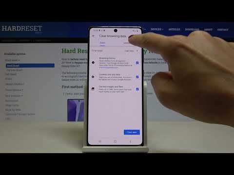 How to Clear Browsing Data on SAMSUNG Galaxy Note 20 – Delete Chrome History