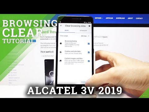 How to Clear Browsing Data in ALCATEL 3V 2019 – Delete Browsing History & Saved Passwords