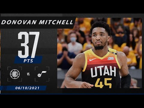 Donovan Mitchell goes off for 37 points to give Jazz 2-0 lead vs. Clippers | 2021 NBA Playoffs