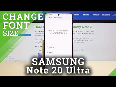 How to Change Font Size in SAMSUNG Galaxy Note 20 – Personalize Font Text