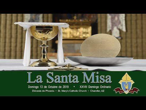 Santa Misa, 8:00 a.m., 13 de octubre del 2019