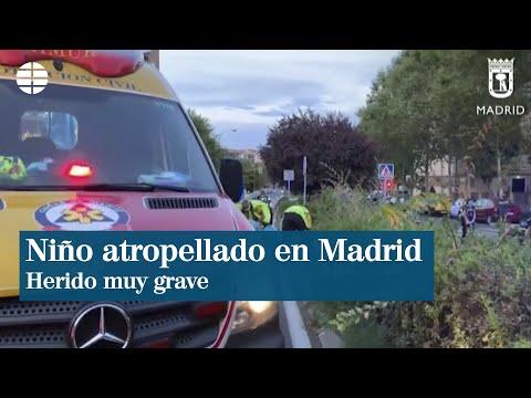 Herido muy grave un niño de 11 años tras ser atropellado en Madrid