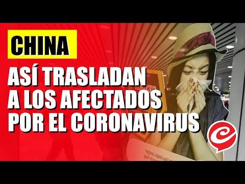 Aislados en cápsulas: así trasladan en China a afectados por el coronavirus